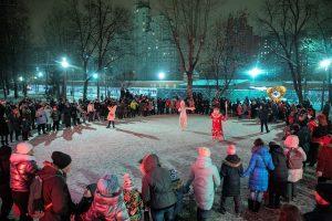 Новый год в таганском парке
