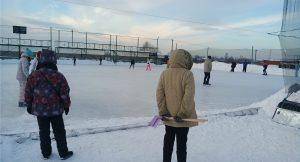 Ледовое поле в Новосергеевке