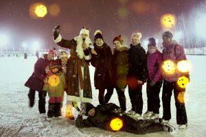 новогодние праздники на катке искра
